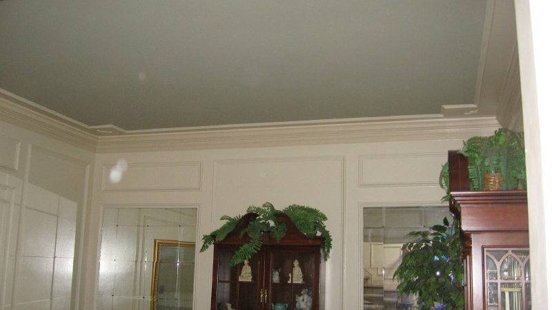 Painting Tray Ceiling Different Color Panels Paint