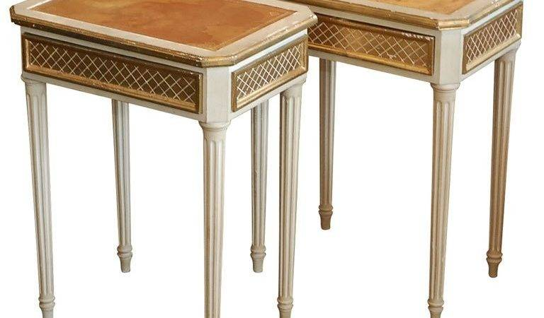 Pair Chic Italian Side Tables Small Night Stands