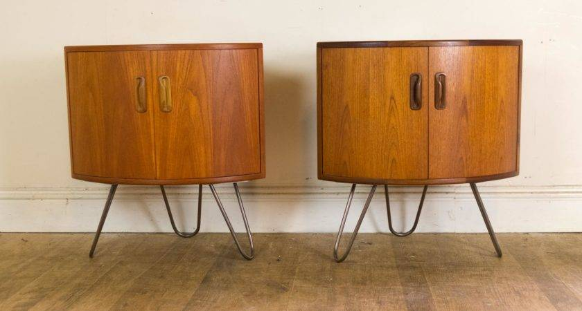 Pair Plan Upcycled Corner Units Bedside Tables Hair Pin