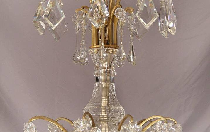 Palatial Unique Gilt Bronze Crystal Chandelier