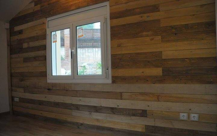 Pallet Wood Wall Paneling Ideas