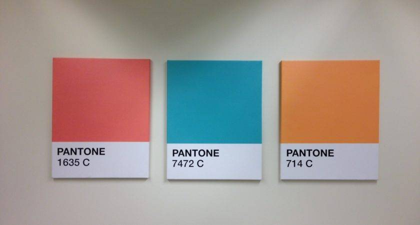 Pantone Canvas Wall Art Color Swatches Rodimels