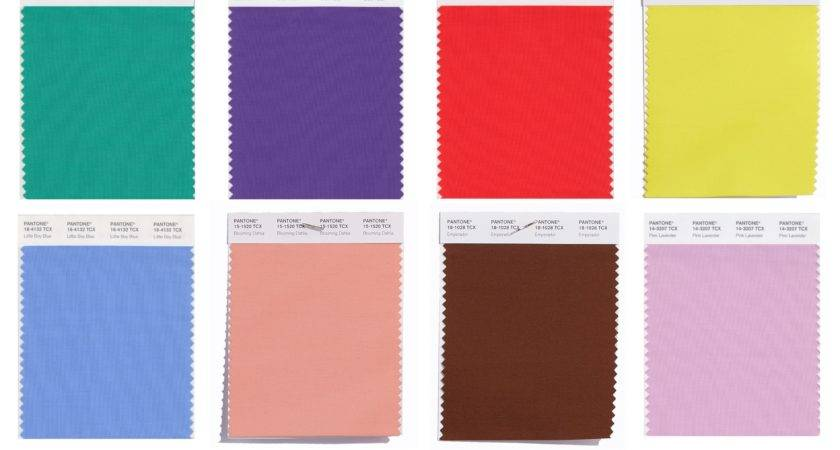 Pantone Swatches Colors Spring Alessandra Faria