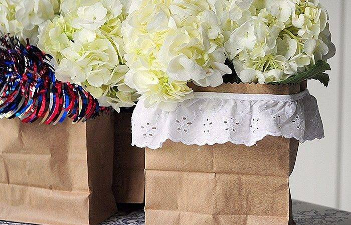 Paper Bag Vase Patriotic Decor Cleverly Inspired