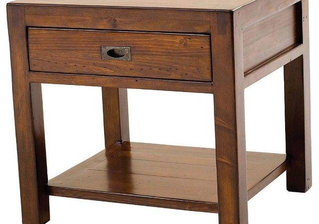 Parsons End Table Contemporary Nightstands Bedside