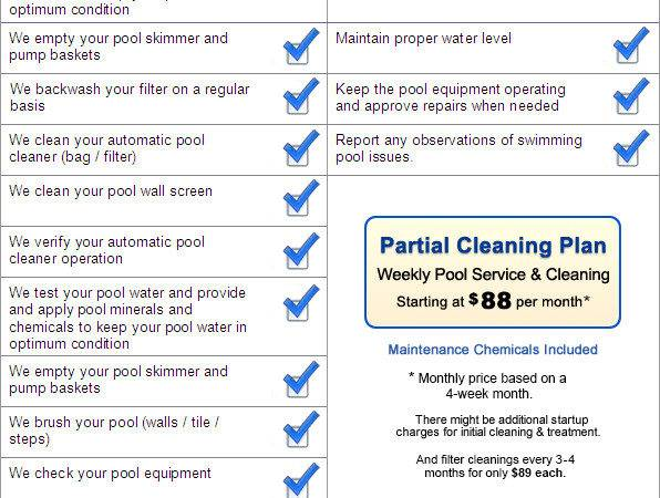 Partial Benbrook Swimming Pool Maintenance Program