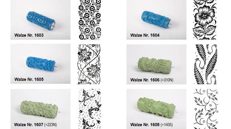 Patterned Paint Rollers