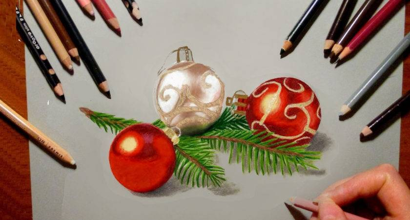 Pencil Drawings Christmas Colored Drawing