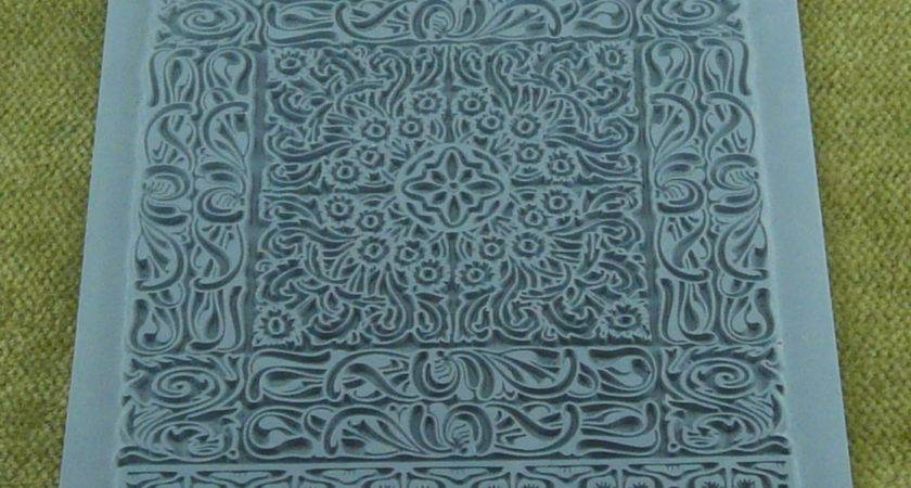 Persian Rug Lisa Pavelka Intricate Carpet Rubber Stamp