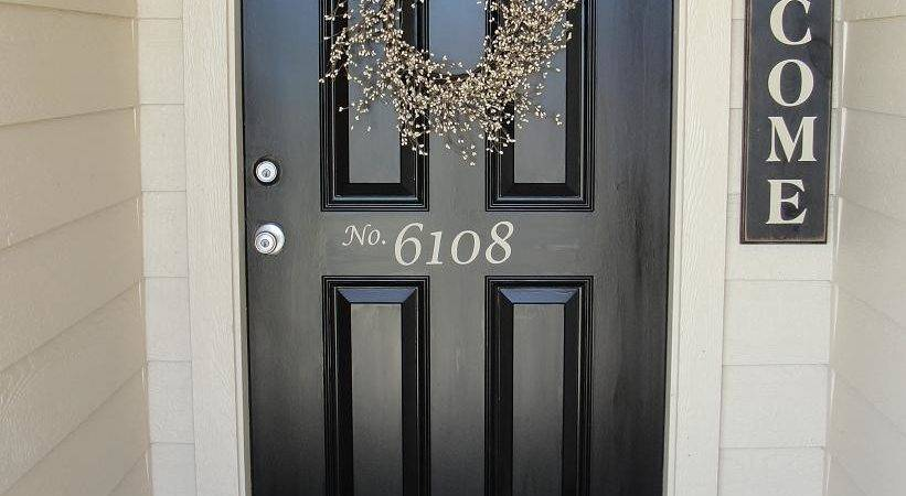 Piccadilly Peddlers Front Door House Numbers Off