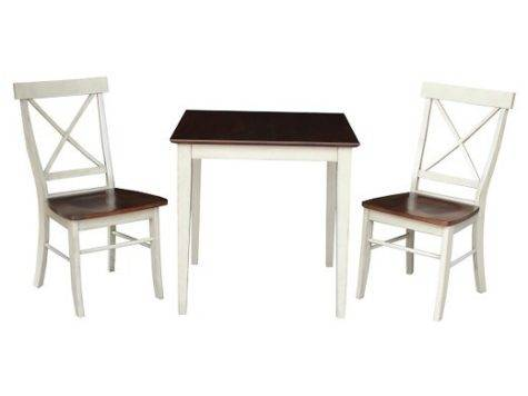 Piece Dining Set Table Wood Antiqued