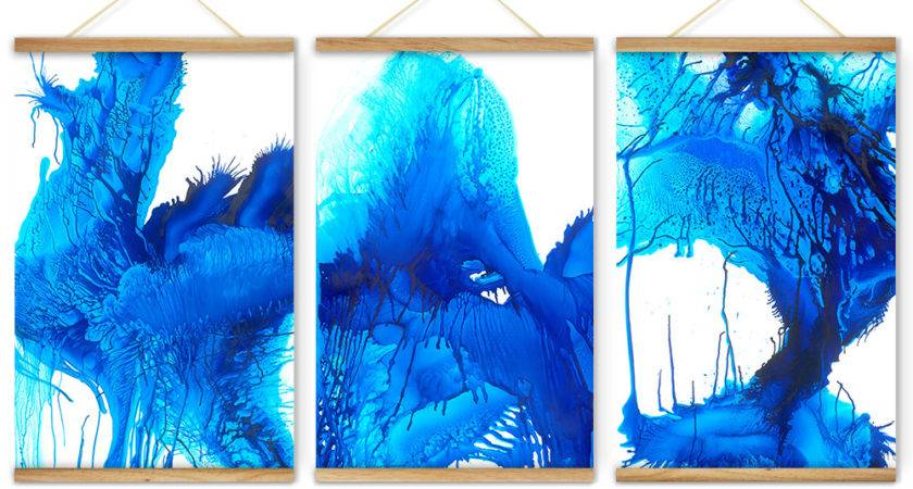 Pieces Dancing Color Cool Blue Decoration Wall