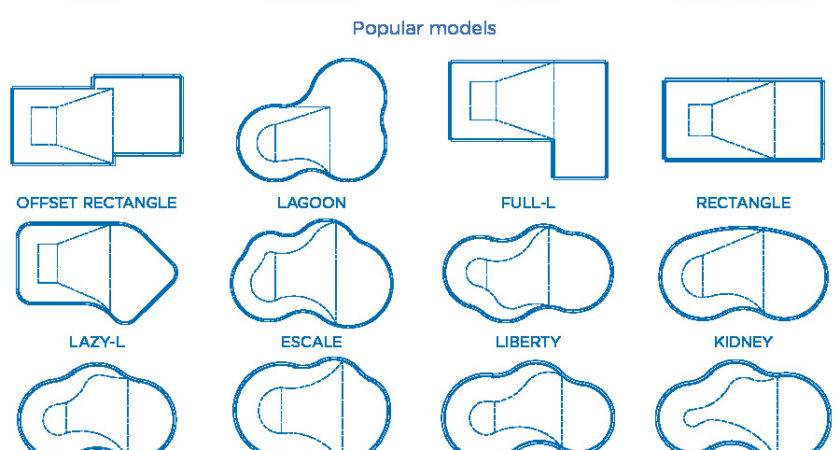 Pin Standard Pool Shapes Pinterest