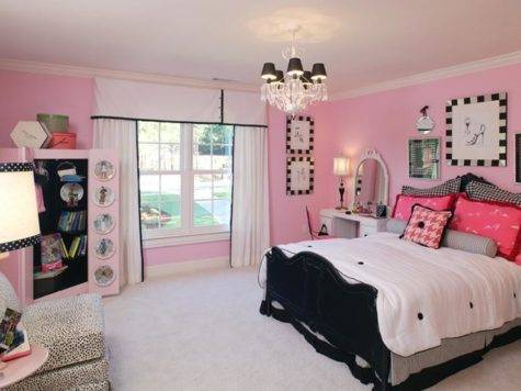 Pink Black Bedroom Decorations Ideas Cute