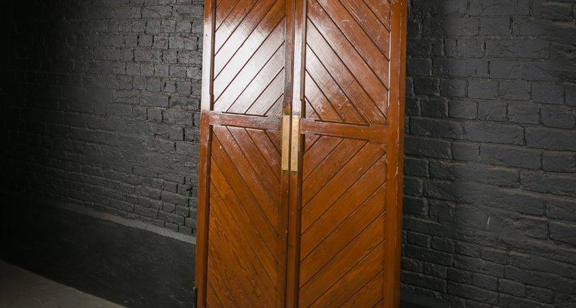 Pitch Pine Double Church Doors Two Way Hinges
