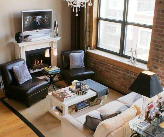 Placement Small Living Room Via Apartment Therapy