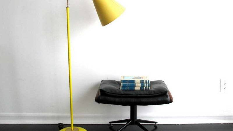 Planning Ideas Amazing Floor Lamps Yellow Color