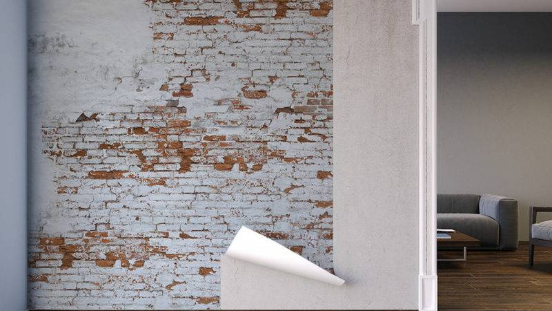 Plaster Brick Wall Design Murals Behangfabriek