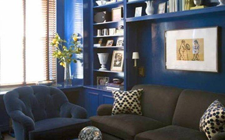 Pleasant Blue Brown Living Room Designs