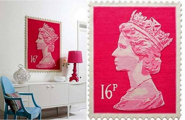 Postage Stamp Rug Collection Colorful Wool Rugs