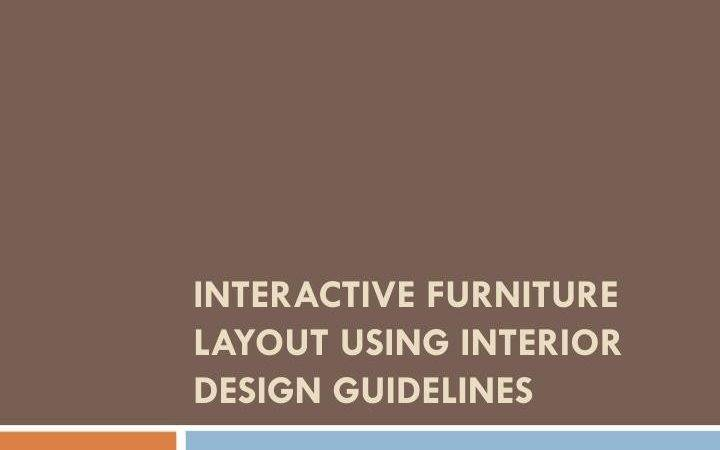 Ppt Interactive Furniture Layout Using Interior Design