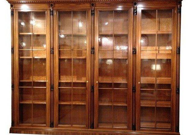 Pre Owned Italian Bookcase Library Glass Doors
