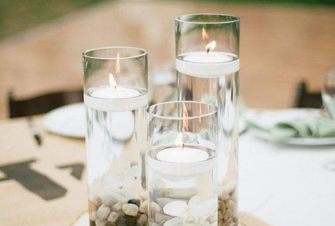 Pretty Table Centerpiece Place Pebbles Glass
