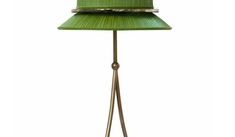 Pretty Table Lamp Woman Lightings Brass Mat