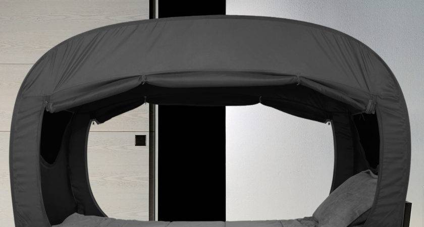 Privacy Pop Bed Tent Dark Comforting Fort