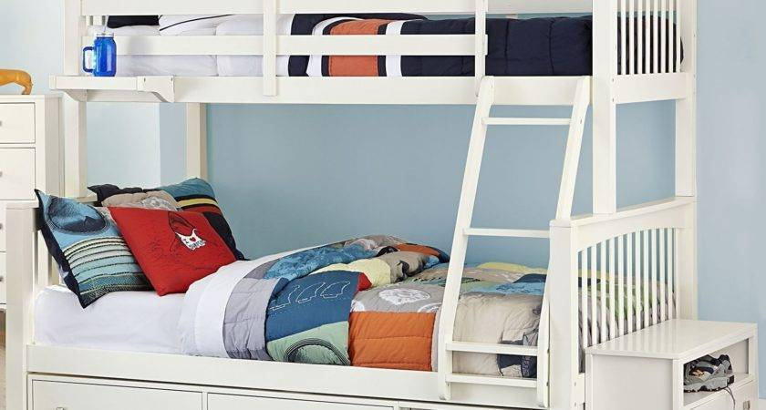 Pulse White Twin Over Bunk Bed Storage