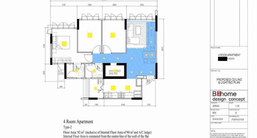Punggol Room Hdb Lighting Plan Final Layout