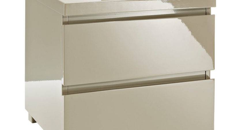 Puro High Gloss Bed Side Table Next Day Delivery