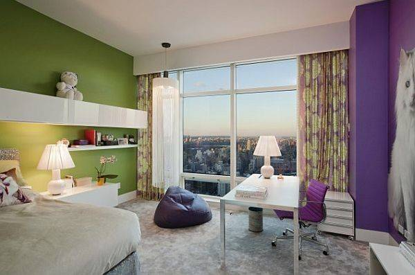 Purple Green Grey Teen Bedroom Decoist