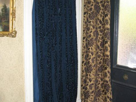 Putting Curtains Hide False Door Townhouse