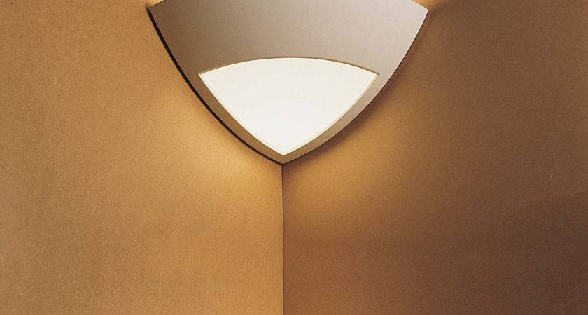 Quarter Cone Corner Plaster Wall Light