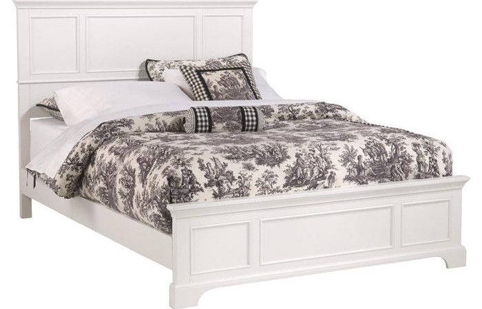 Queen Bed Frame White Finish Headboard Bedroom Furniture