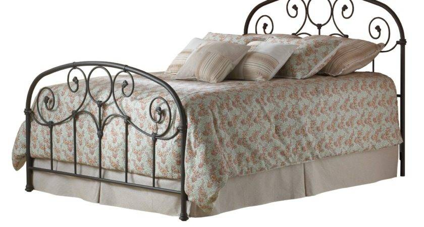 Queen Metal Bed Decorative Softly Rounded