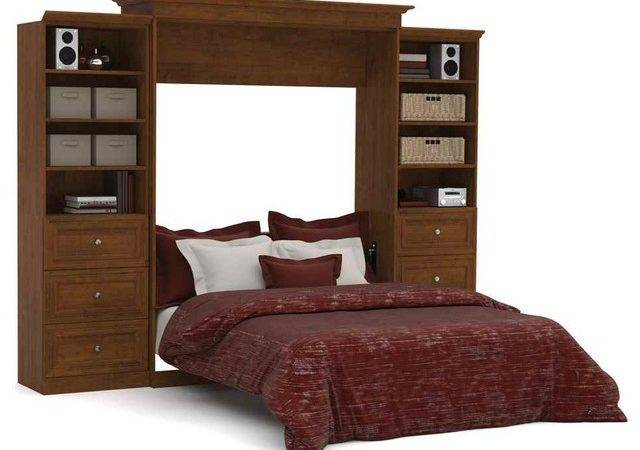 Queen Wall Bed Storage Units Drawers Tuscany