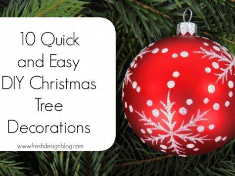 Quick Easy Diy Christmas Tree Decorations Fresh