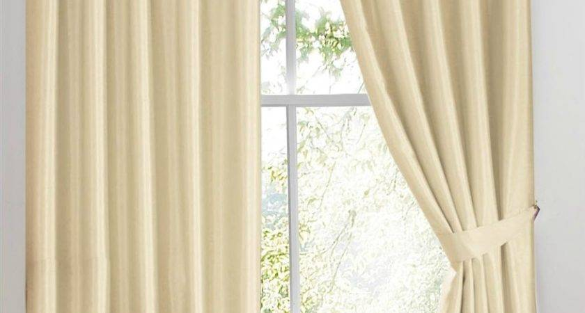 Ready Made Curtains Como Ivory White Faux Silk