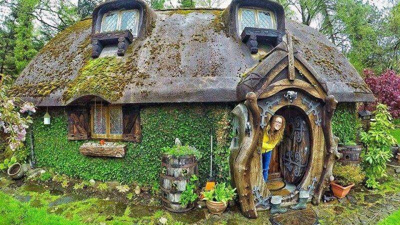 Real Life Hobbit House Built Tomich Scotland