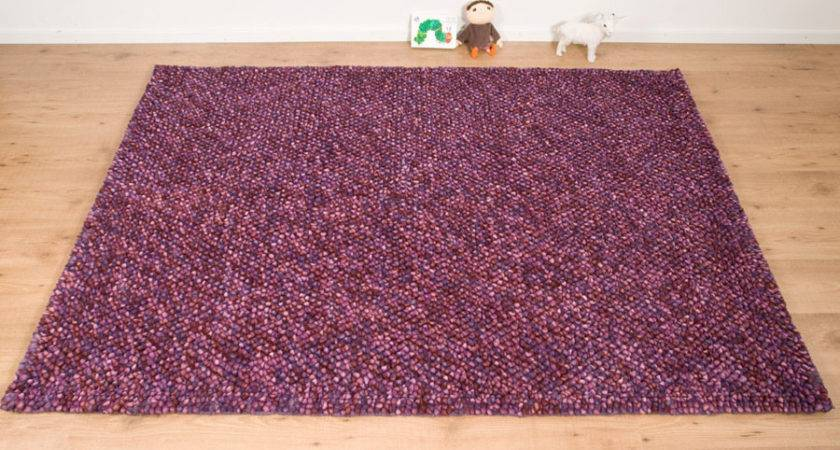 Real Rug Pebble Lilac Next Day Delivery