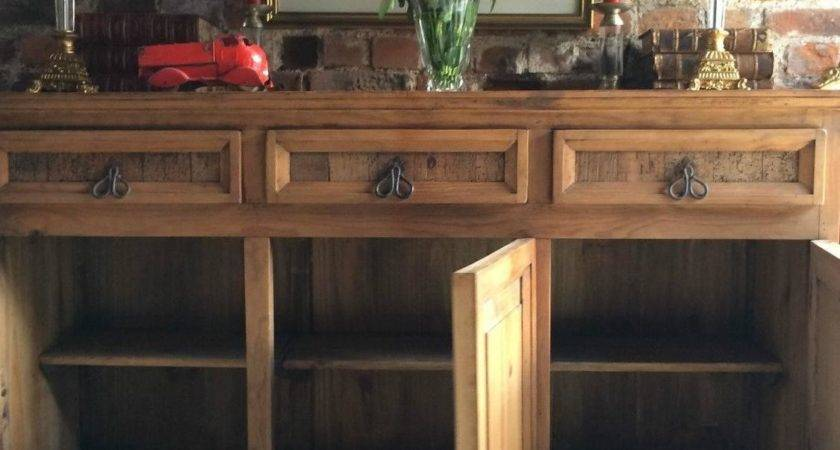 Reclaimed Solid Pine Dresser Sideboard Buffet Credenza