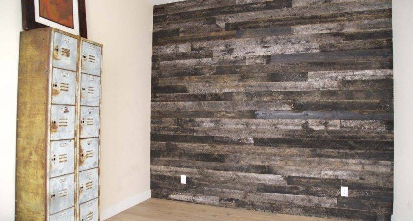 Reclaimed Speckled Black Wood Wall Covering Porter Barn