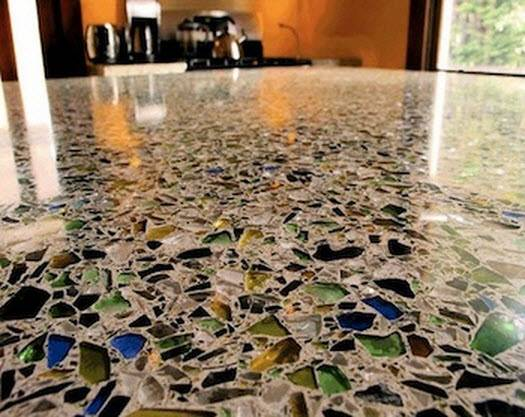 Recycled Glass Floor Tile Architectural Design