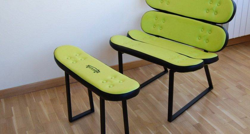 Recycled Skateboard Furniture Decosee