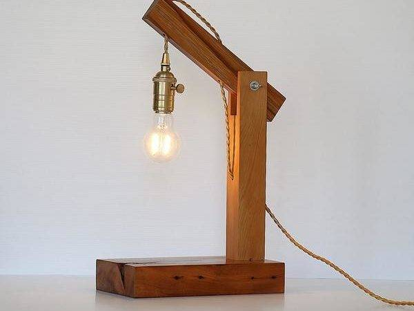 Recycled Wood Hanging Led Table Lamp Rimu Kcimory