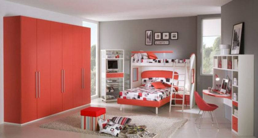Red Passion Teen Room Color Scheme Iroonie