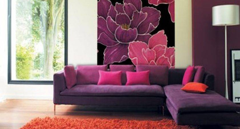 Red Purple Living Room Home Design