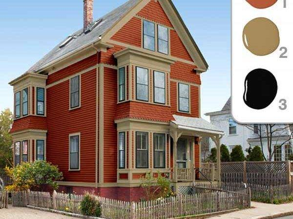 Red Scheme Picking Perfect Exterior Paint Colors